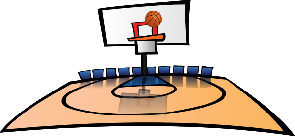 Basketball Court Clipart.