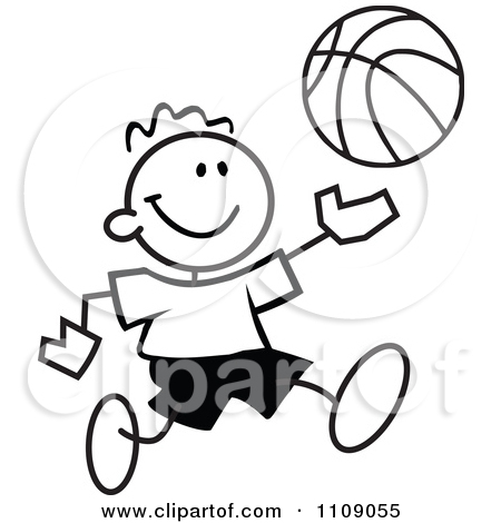 Basketball Court Clipart Black And White.