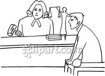 court clipart black and white #11