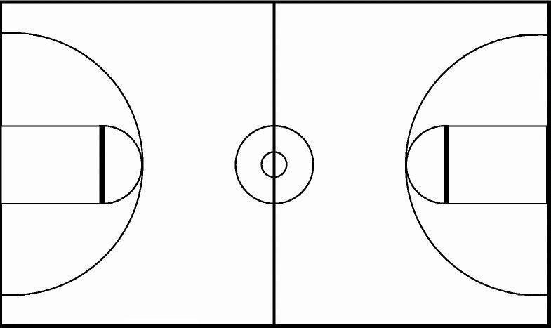 Basketball black and white crop black white basketball court.
