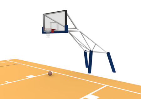 Basketball Court Clip Art Free Material, Basketball Court Free.