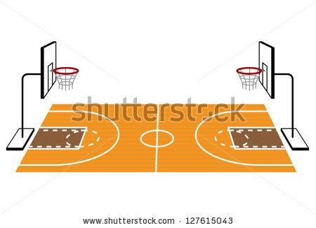 Basketball Court Clipart.