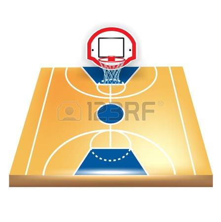 Court clipart free clipground for Basketball court wall mural
