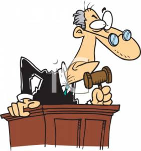 Judge In Court Clipart#1867490.