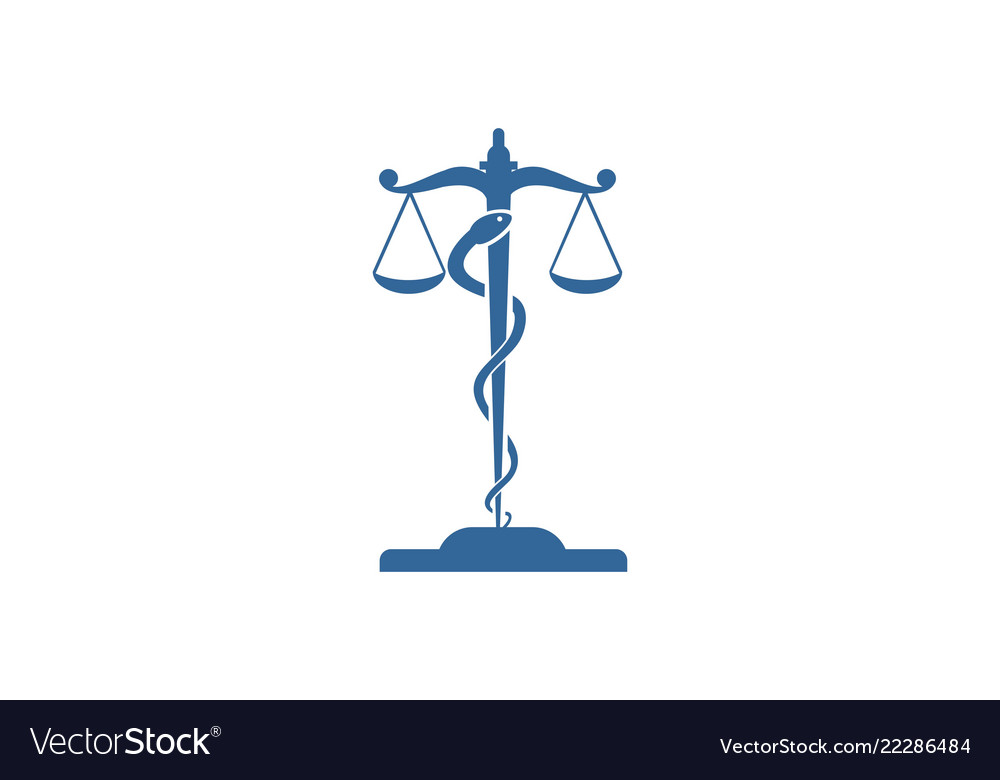 Law lawyer court logo.