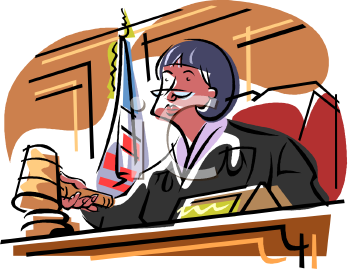 Clipart Judge Court.