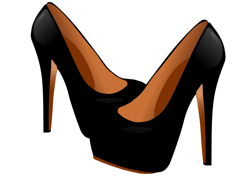 black high heels clipart.