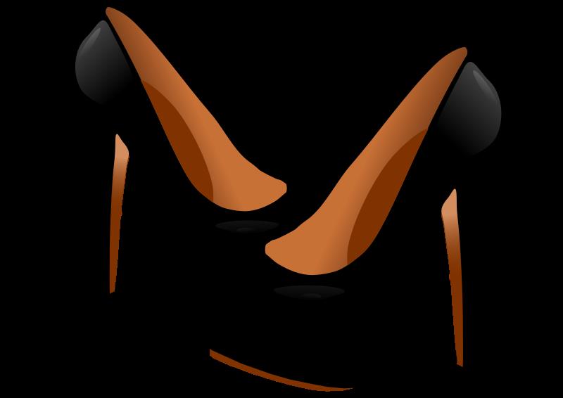black high heels clipart.
