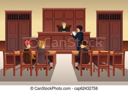 Court Scene Illustration.