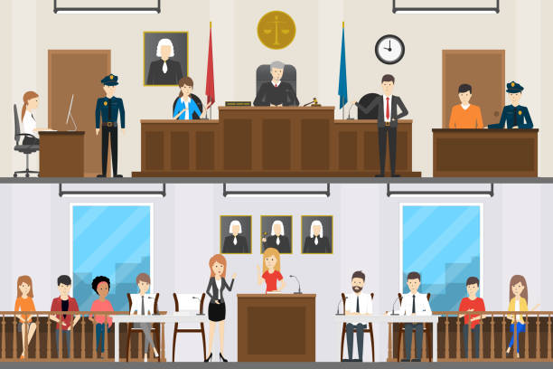 Best Courtroom Illustrations, Royalty.