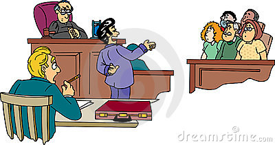 In the Court Room Lawyer Clip Art.