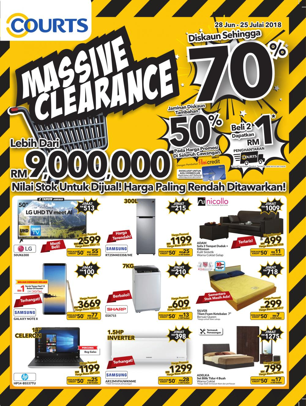 COURTS Massive Clearance Promotion Catalogue (28 June 2018.