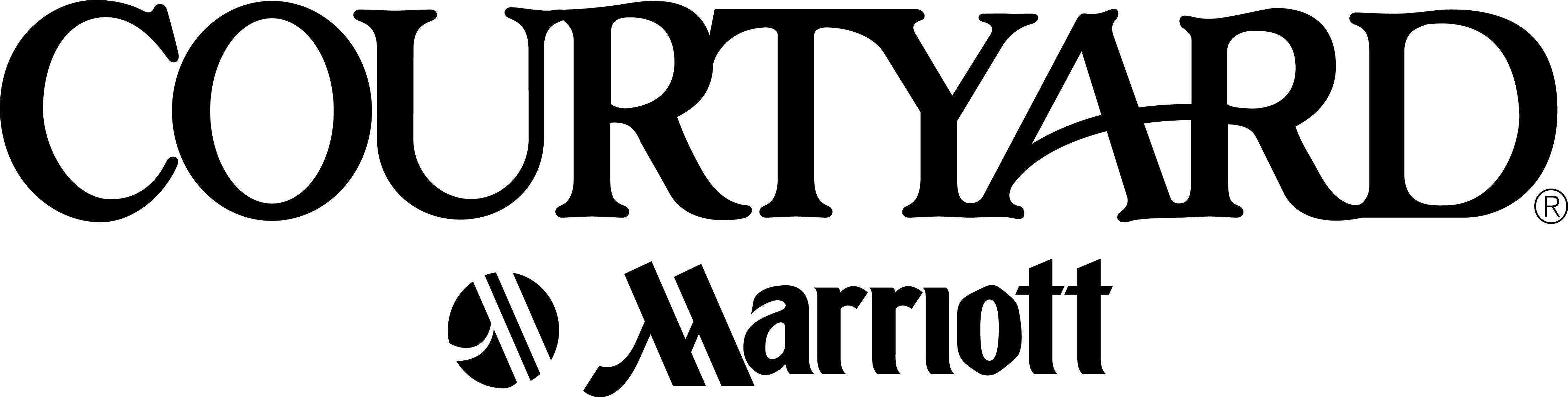 Courtyard marriott Logos.