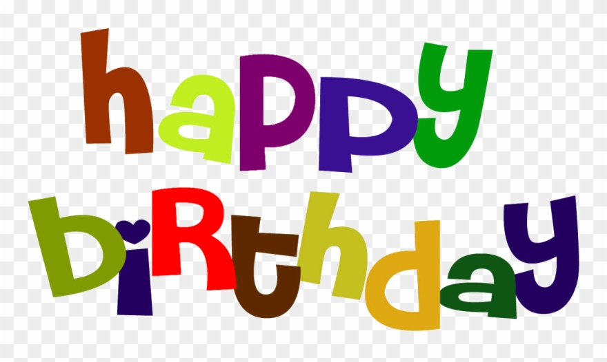 Colorful Happy Birthday Sign Clip Art.