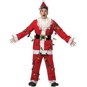 Christmas Vacation Cousin Eddie White Robe and Belt Costume Set.