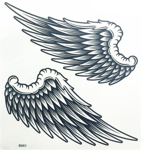 Tattoo Sticker Angel Wings Raver Arm Leg Body Art Waterproof.