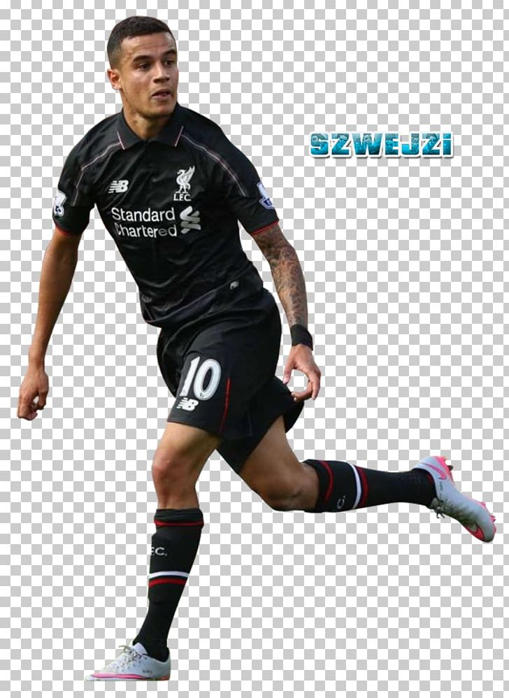 Philippe Coutinho Liverpool F.C. Football Player Jersey PNG.