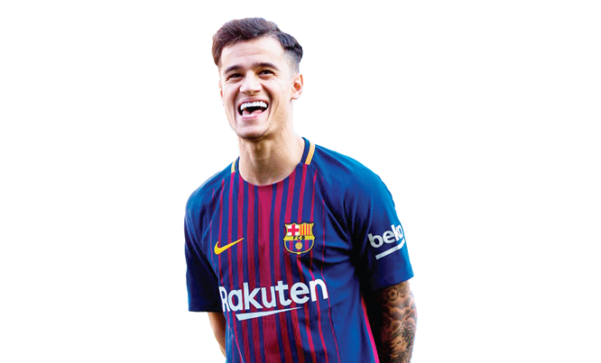 Philippe Coutinho Png Barcelone Midfielder.