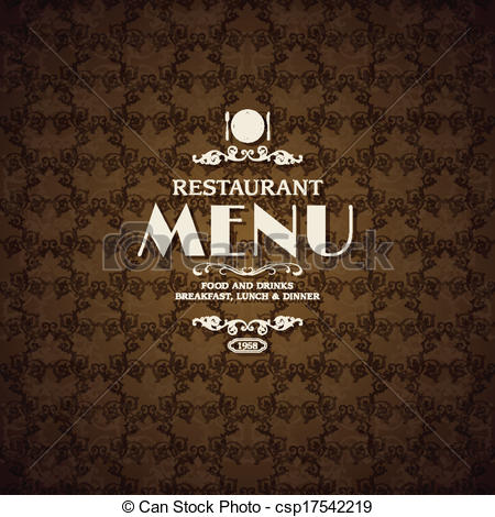 Vector Clip Art of Restaurant cafe menu cover template with.