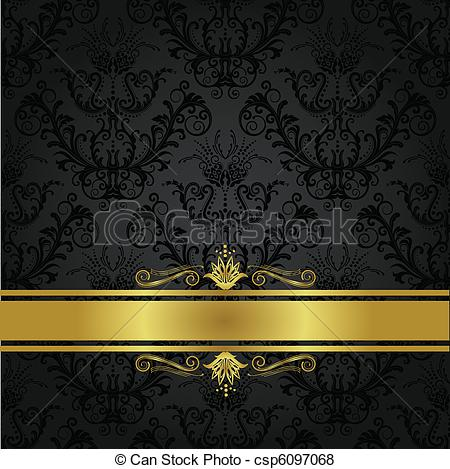 Vector of Luxury charcoal and gold book cover. This image is a.