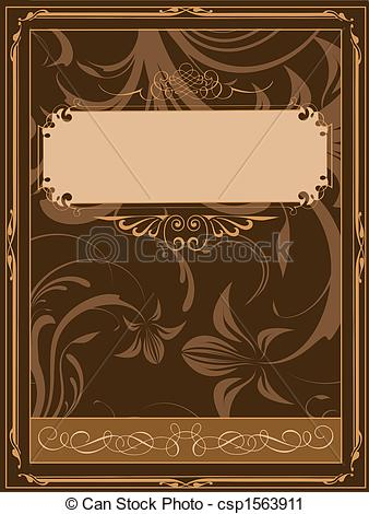Clipart of Old book cover illustration csp1563911.