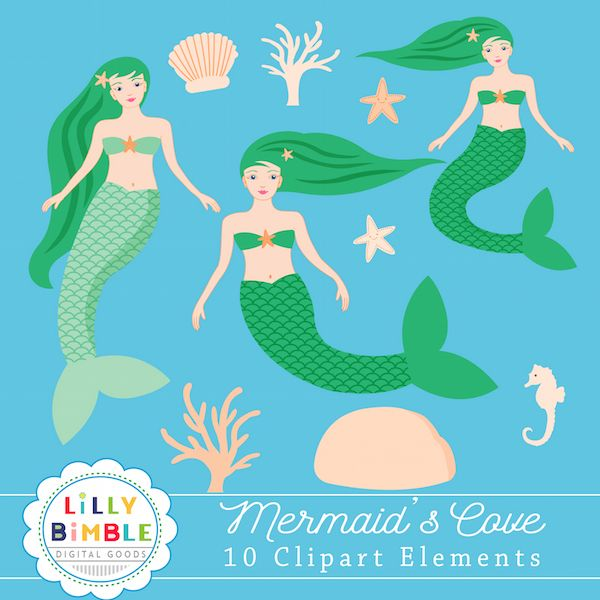 Mermaid's Cove Clipart.
