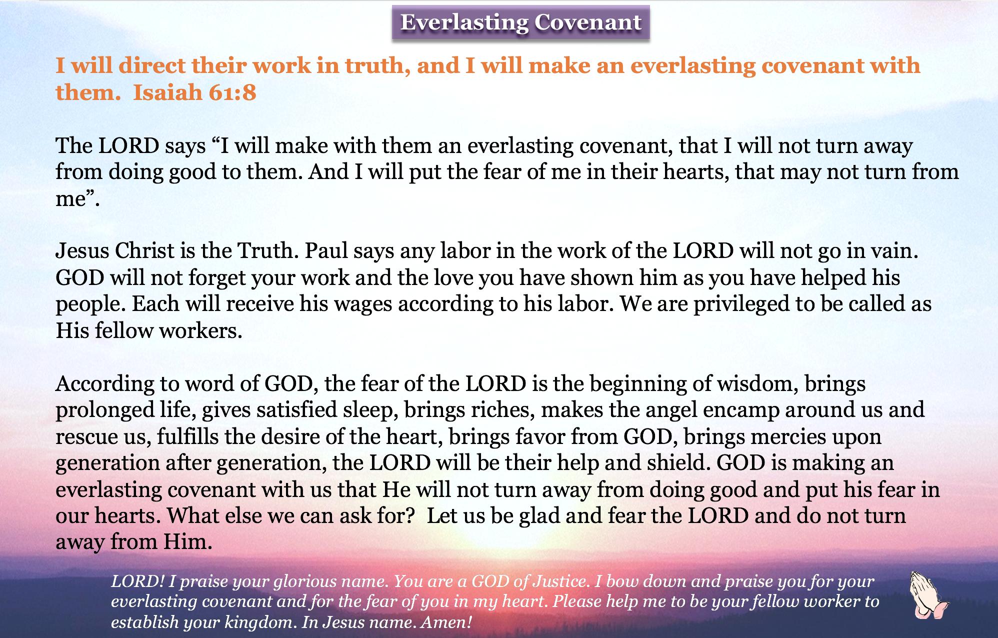 Everlasting Covenant.