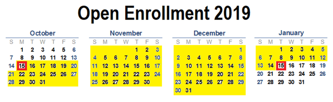 Covered California Open Enrollment Period.