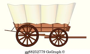 Covered Wagon Clip Art.