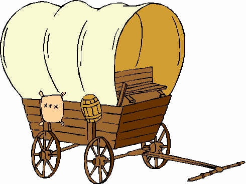 Pioneer covered wagon clipart Inspirational Oregon Trail Wagon.