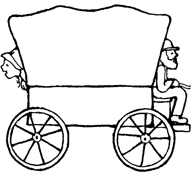 Covered Wagon Clipart.
