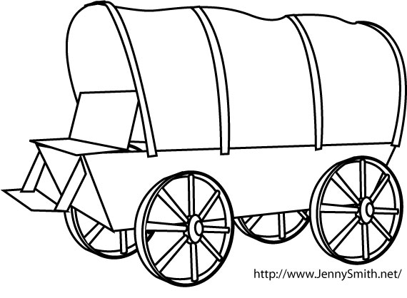 Pioneer Covered Wagon Clipart.