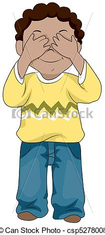 Covering Eyes Clipart.