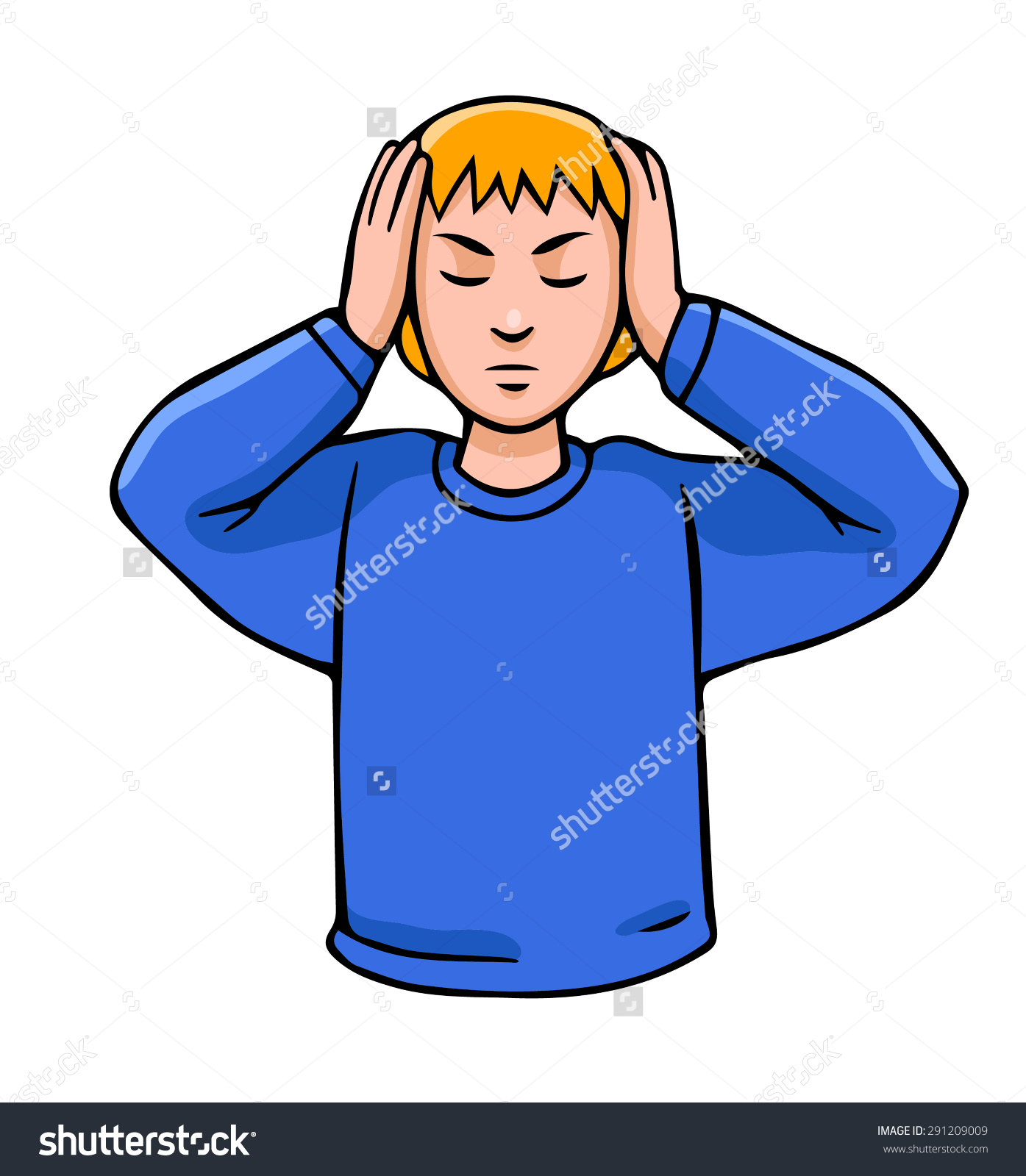 Covering Ears With Hands Clipart.