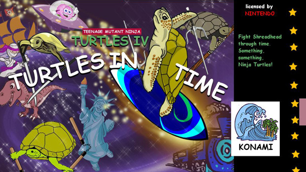 Game covers recreated using clip art and Comic Sans font.