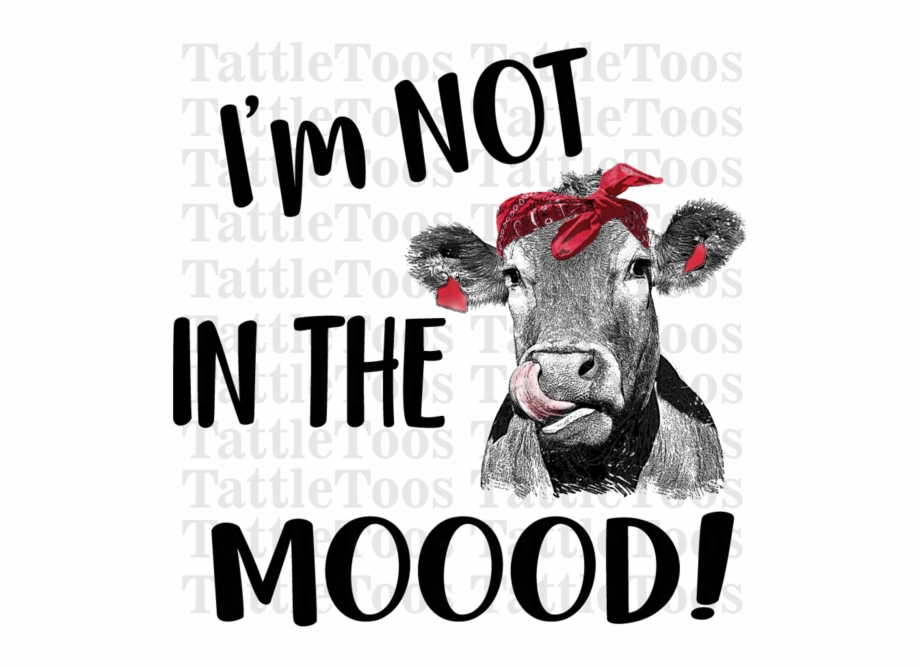 Notinthemoood Red Bandana Cow Heifer Don T Take.