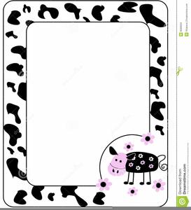 Cow Print Border Clipart.