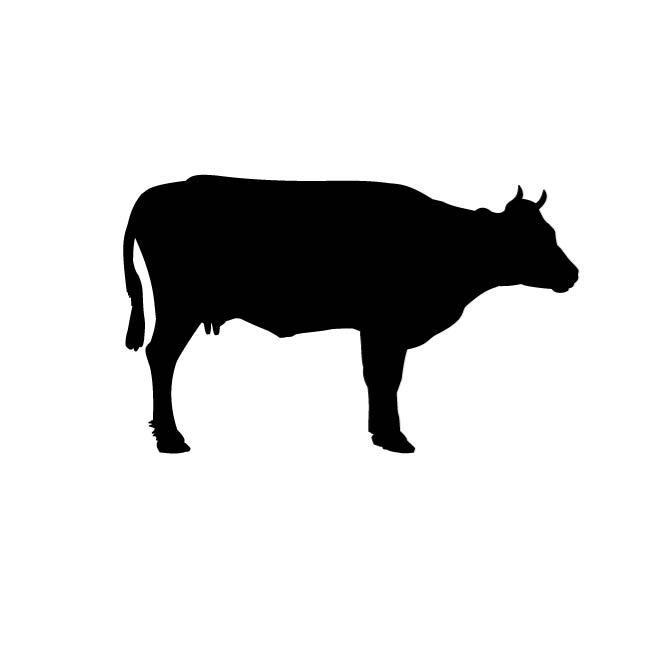 COW CLIP ART VECTOR.