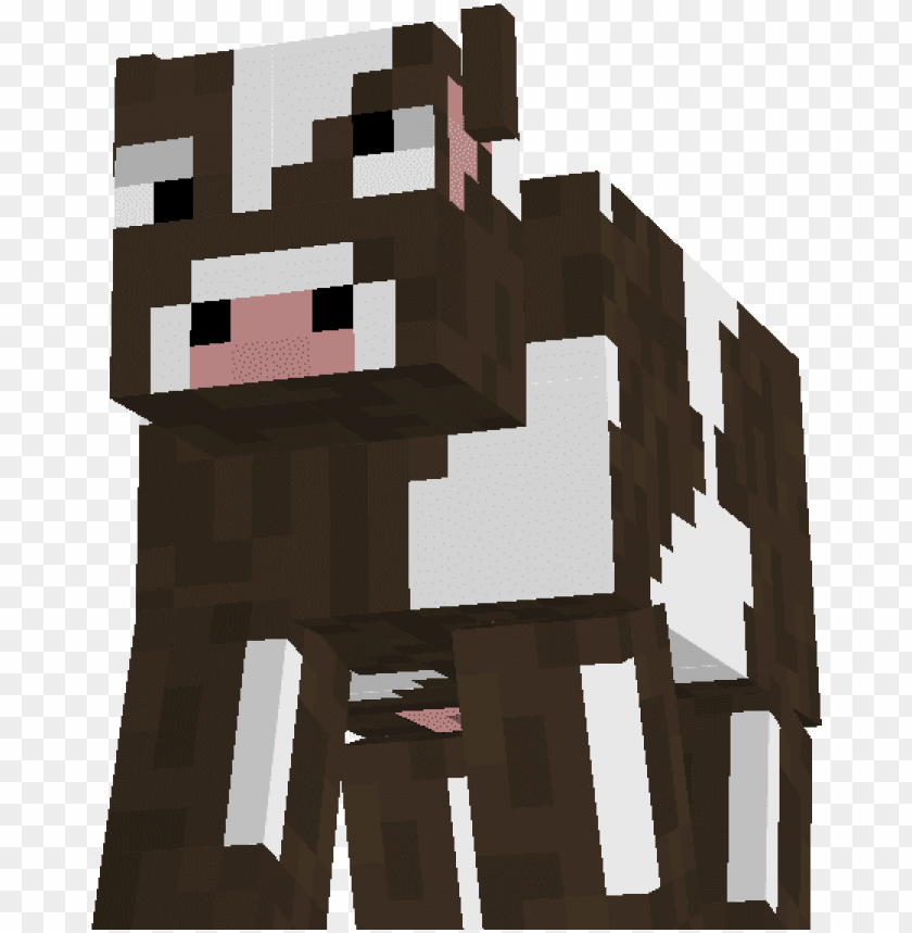 minecraft cow PNG image with transparent background.