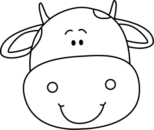 Black and White Cow Head.