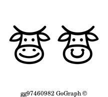 Cow Face Clip Art.