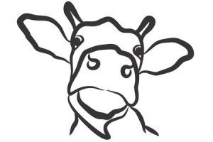 Cow head clipart black and white 3 » Clipart Portal.