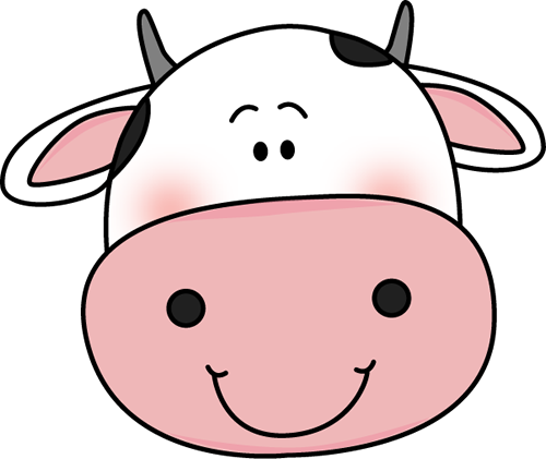 Image result for cute cow head clipart black and white.