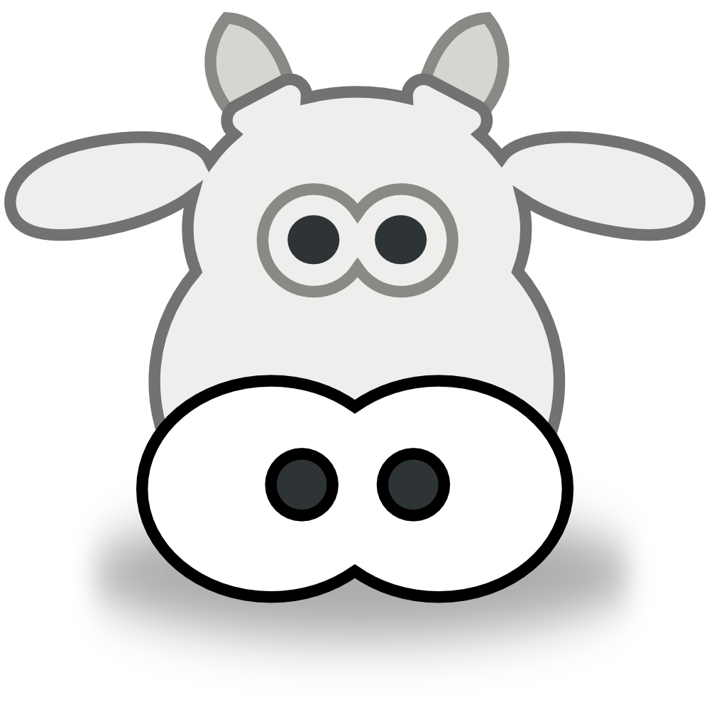 Cow Head Clipart Black And White.