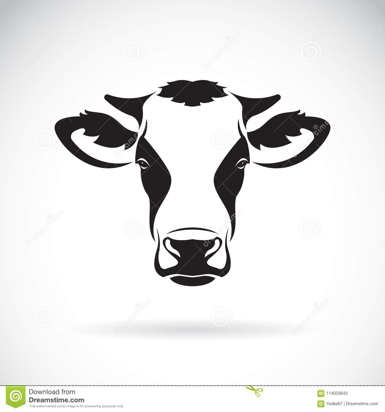 Vector Of A Cow Head Design On White Background. Farm Animal. Ea.