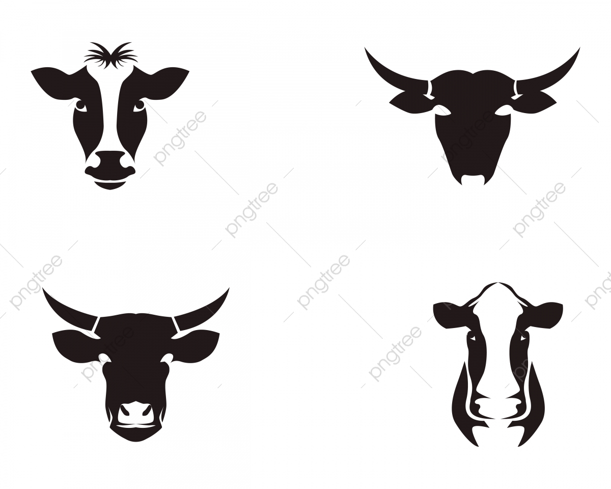 Cow Head Symbols And Logo Vector Template, Agriculture, Animal.