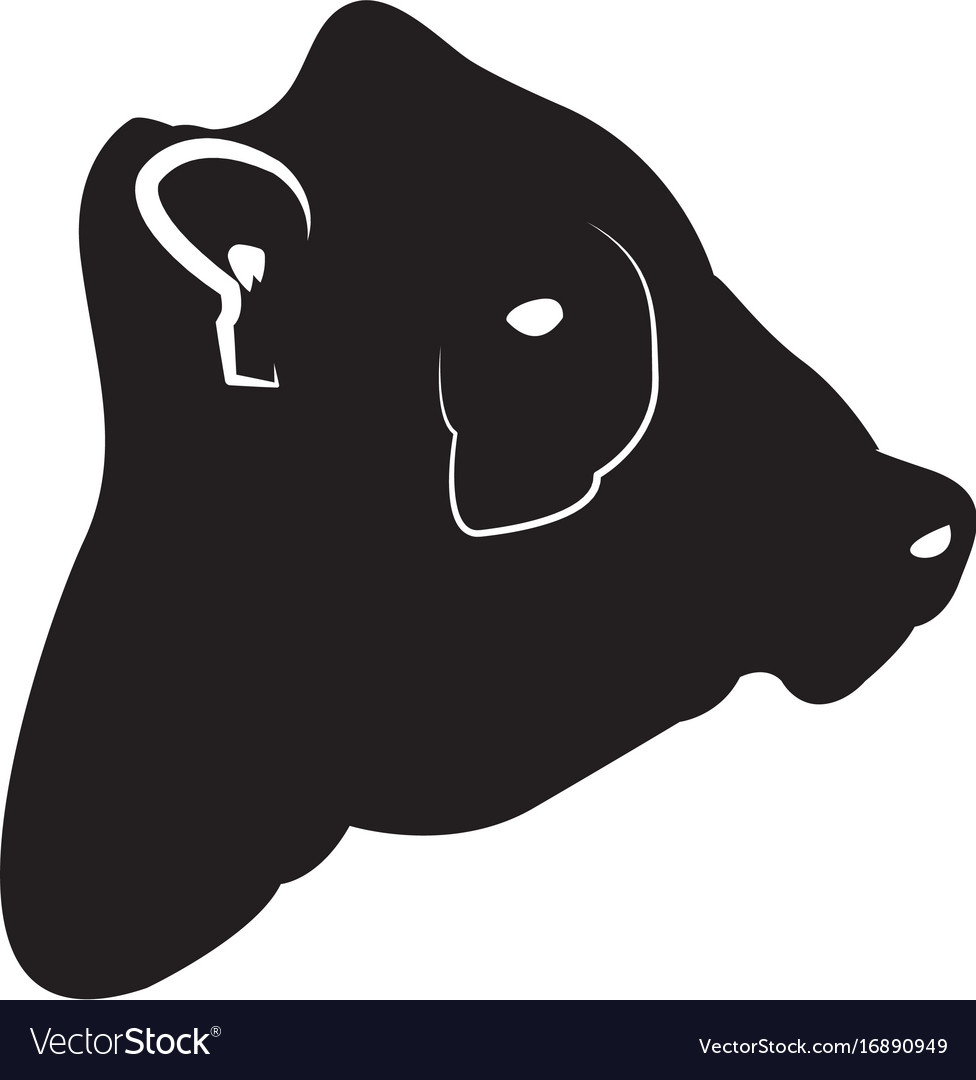 Isolated cow head silhouette.