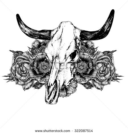 Bull Tattoo Stock Images, Royalty.