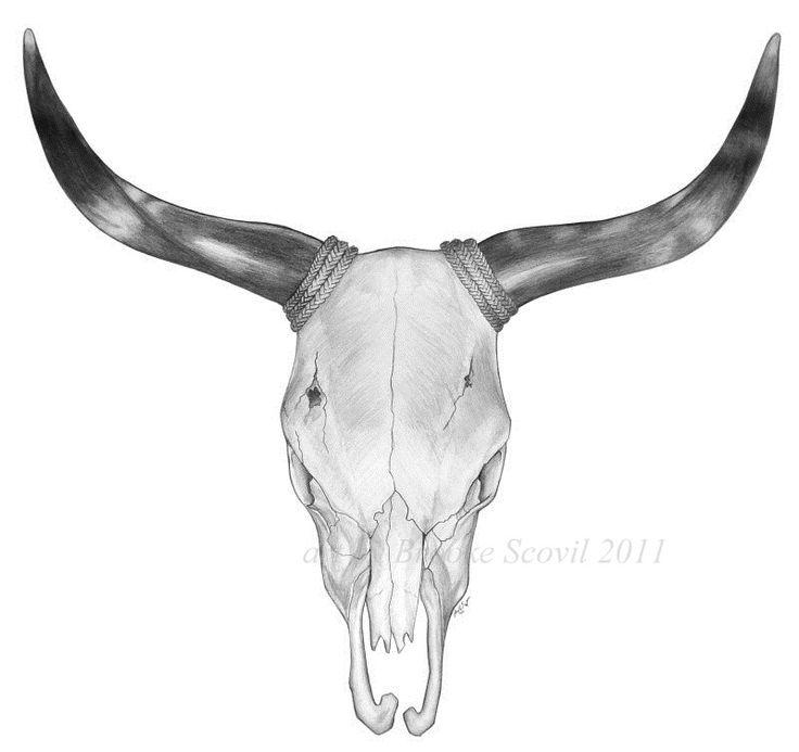 25+ best ideas about Bull Skull Tattoos on Pinterest.