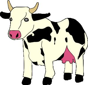 Cute Cow Herd Clipart.